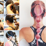 Hairstyles for gym: Ponytail-braid