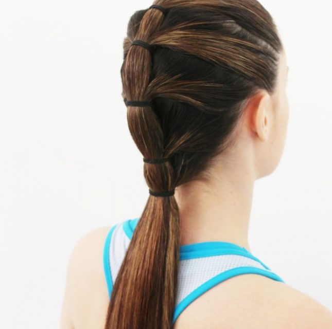Hairstyles for gym: Tiered Pony